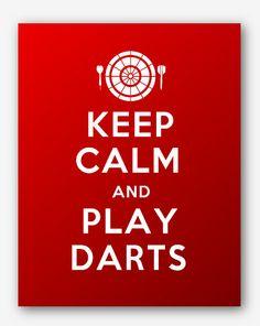 0030Keep Calm and Play Darts Sport Printable by KeepCalmStudio, $6.99