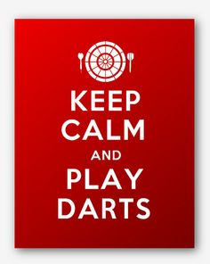 0030Keep Calm and Play Darts Sport Printable by KeepCalmStudio, $6.99
