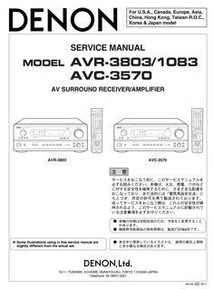 The 10 best denon service manuals images on pinterest manual denon avc 3570 service manual coplete on cd pdf fandeluxe Choice Image