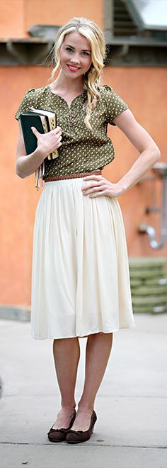 Cotton Gathered Skirt [MSF1980] - $44.99 : Mikarose Boutique, Reinventing Modesty