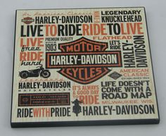 This plaque is great for the Harley Davidson fan who can't get enough of the sound of Panhead or know what its like to Love free and Ride hard! It also a great gift for those of us dream of the sound