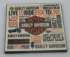 Harley Davidson 6x6 Plaque