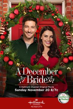 "Find out more about the Hallmark Channel Original Movie ""A December Bride"" starring Jessica Lowndes and Daniel Lissing. Hallmark Channel, Películas Hallmark, Films Hallmark, Hallmark Holidays, Daniel Lissing, Christmas Movies On Tv, Christmas Shows, Holiday Movies, Family Christmas"