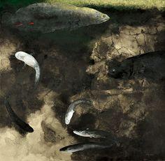 第45回日展(国立新美術館) 「淵」 197×200cm 2013年