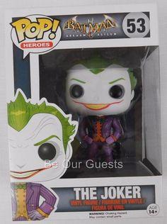 Funko Pop Heroes Vinyl Figure Batman Arkham Asylum The Joker 53 New