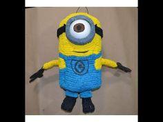 Como hacer una Piñata de minion (mi villano favorito) - YouTube