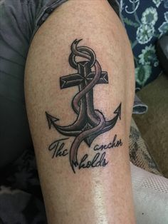 The anchor holds in spite of the storm