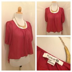 Forever 21 Pink blouse avail now