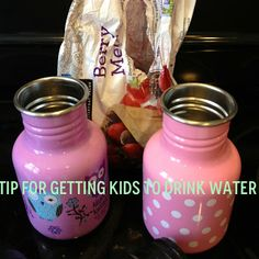 Healthy habits for kids! A good way to get kids to drink more water.