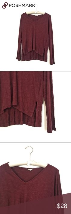 Madewell flowy v neck tee Excellent condition Madewell Tops Tees - Long Sleeve