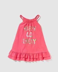 Vestido de niña Freestyle en rosa con print.