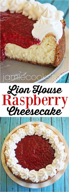 Lion House Raspberry Cheesecake from Jamie Cooks It Up!