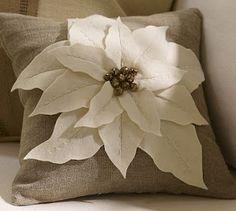 poinsettia pillow  wow!