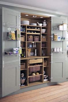 Magnificent Traditional Kitchen by Yorkshire And The Humber Kitchen Designers & Remodelers Holme Design The post 10 Kitchen Pantry Ideas for Your Home appeared first on Interior Designs . Kitchen Pantry Design, Kitchen Organization, Kitchen Storage, Storage Room, Pantry Storage, Pantry Shelving, Kitchen Larder Cupboard, Organization Ideas, Smart Storage