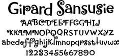 Alexander Girard Sansusie font