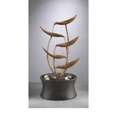 Natura Metal Leaves Tabletop Fountain