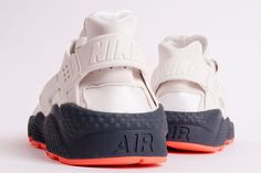 NIKE AIR HUARACHE (WHITE/GREY/CRIMSON) - Sneaker Freaker  Promote your Business with us for more details Contact us: 01212641338 9690331338,9219660359 rradvertisingmeerut@gmail.com