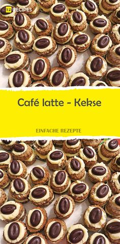 Café latte – biscuits – Desserts World Nutella Cupcakes, Nutella Crepes, Nutella Brownies, Nutella Cookies, Ginger Bread Cookies Recipe, Lemon Cookies, Delicious Cookie Recipes, Dessert Recipes, Café Latte