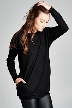 - Street Style Swag just got easier with our Streets of Soho Tunic it features a Loose fit, long sleeve, and round neckline - Model is wearing a small. - Imported - 100% Acrylic