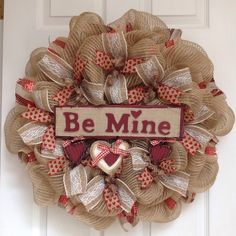 Be Mine Valentines Day Deco Mesh Wreath by whatameshbydiana on Etsy https://www.etsy.com/listing/218862790/be-mine-valentines-day-deco-mesh-wreath