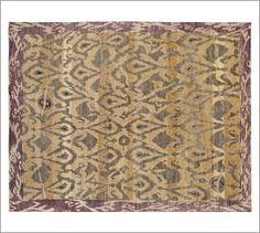 Deren Ikat Hand-Knotted Rug #potterybarn  Surprised to find such beautiful rugs at PotteryBarn