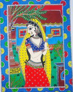 Kerala Mural Painting, Ganesha Painting, Madhubani Painting, Indian Art Paintings, Mandala Painting, Fabric Canvas Art, Rajasthani Painting, Owl Artwork, Madhubani Art