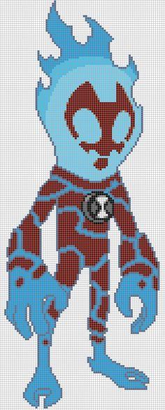 Heatblast - Pixel Art Templates