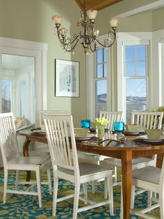 Dining Room Painted In Benjamin Moore Guilford Green, 2015 Color Of The  Yearu2026