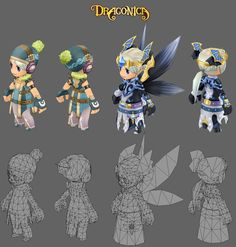 Low poly game characters.