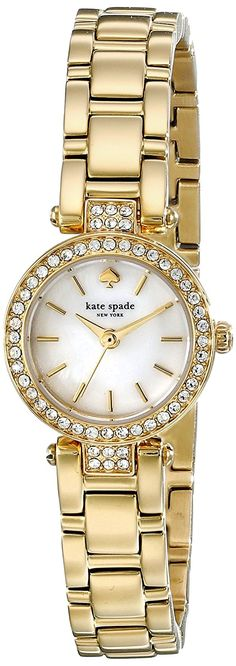 kate spade new york Women's 1YRU0723 Tiny Gramercy Gold-Tone Watch ** Awesome product. Click the image