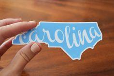"North Carolina ""Carolina"" Vinyl Decal"