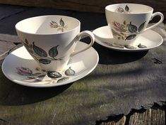 J&G Meakin Sol cup and saucer duos Nightclub rose buds Nightclub, Rose Buds, Cup And Saucer, Tea Cups, Chips, Delicate, Tableware, Pattern, Pink
