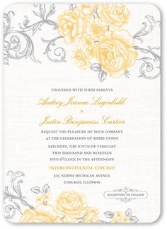 Grey and yellow printable wedding invitation by langdesignshop grey and yellow printable wedding invitation by langdesignshop m a r r y m e pinterest yellow wedding invitations yellow weddings and calligraphy stopboris Image collections