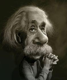 Rodney Pike Humorous Illustrator: Albert Einstein Caricature Study