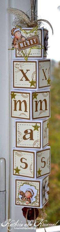 Stempeleinmaleins: cubi di Natale ~ cubetti di x-mas