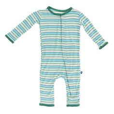 Navy Sea Moon and Back Baby Organic Snap-Front One-Piece Coverall with Cap Set 0-3 Months