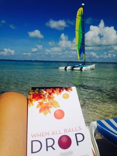 An inspired reader enjoying #whenallballsdrop in the Florida Keys! Here's to looking up! See more on www.heidisiefkas.com