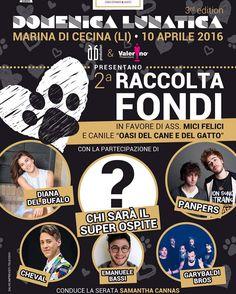 #DianaDelBufalo Diana Del Bufalo: Per aiutare i nostri amici pelosi!!! Venite! Vi aspettiamo!!!  #Cecina #Toscana