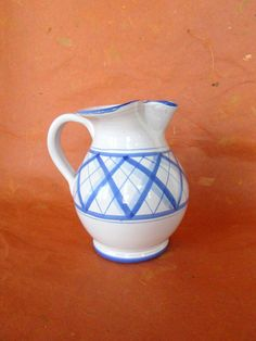 Vintage White and Blue Majolica Italian Hand by LyricalVintage