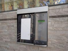 Entrance access keypad and intercom to an apartment building. http://photodune.net/item/intercom-access-keypad-to-building/4781325