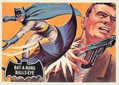 1966 Batman Black Bat Card No.32 Bat-a-Rang Bulls-Eye   Flickr - Photo Sharing!