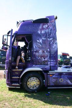 LIKE Progressive Truck School today: http://www.facebook.com/cdltruck  #trucking #truck #driver  Purple Truck
