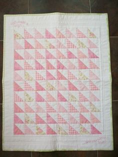 Red Brolly - Latest Craft Tips & Product Recommendations Crib Quilts, Pink Quilts, Baby Girl Quilts, Girls Quilts, Rag Quilt, Scrappy Quilts, Easy Quilts, Patchwork Patterns, Quilt Patterns