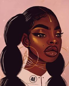 Pin by jocelyn jones on natural hair art black girl art, black art pictur. Black Love Art, Black Girl Art, Black Girls, Art Girl, Black Women, African American Art, African Art, African Beauty, Arte Black