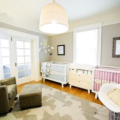 Twin Baby Rooms Design, Pictures, Remodel, Decor and Ideas