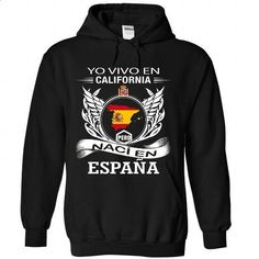 Yo Vivo en california Pero Nac en Espaa - #hoodie diy #sweater for men. CHECK PRICE => https://www.sunfrog.com/LifeStyle/Yo-Vivo-en-california-Pero-Nac-en-Espaa-9933-Black-Hoodie.html?68278