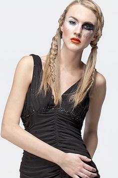 avant garde makeup, perfect for a modern harley