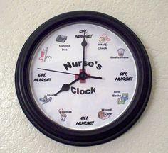 Funny Nurse Clock Gift.