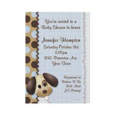 Puppy Invitation dog babi, buddi babi, puppi invit, dogs, babi idea, shower invitations, babi lee, babi shower, baby showers