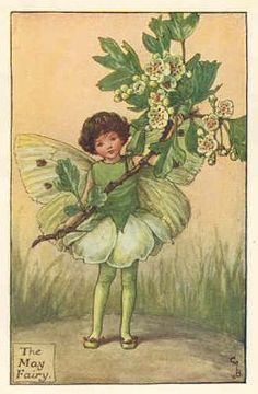 FLOWER FAIRIES: MAY FAIRY. c.1930. Old vintage print